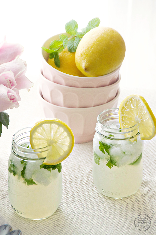 Mint Lemonade Recipe - Paint Me Pink