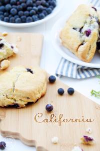 New California cutting board and Bluberry Scone Recipe