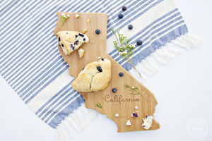 New California cutting board and Bluberry Scone Recipe