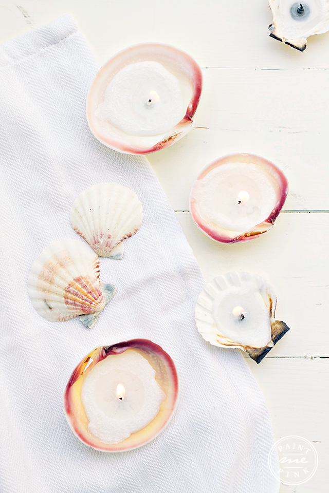DIY Seashell Candles