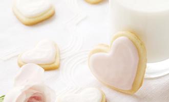 Valentine's Day Vanilla Heart Cookies